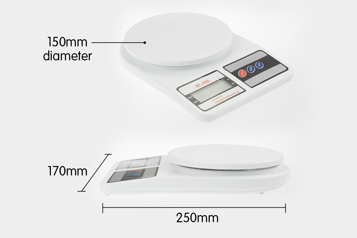 Digital Kitchen Scales 10kg / 1gm Electronic Food Scale 5