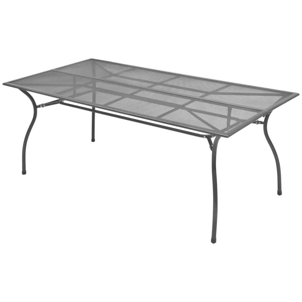 Garden Table 180x90x72 cm Steel Mesh 1