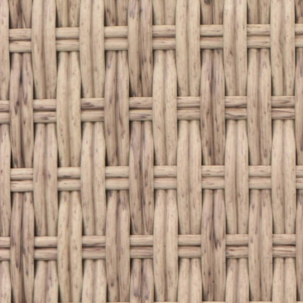 Outdoor Lounge Bed Poly Rattan Beige 2
