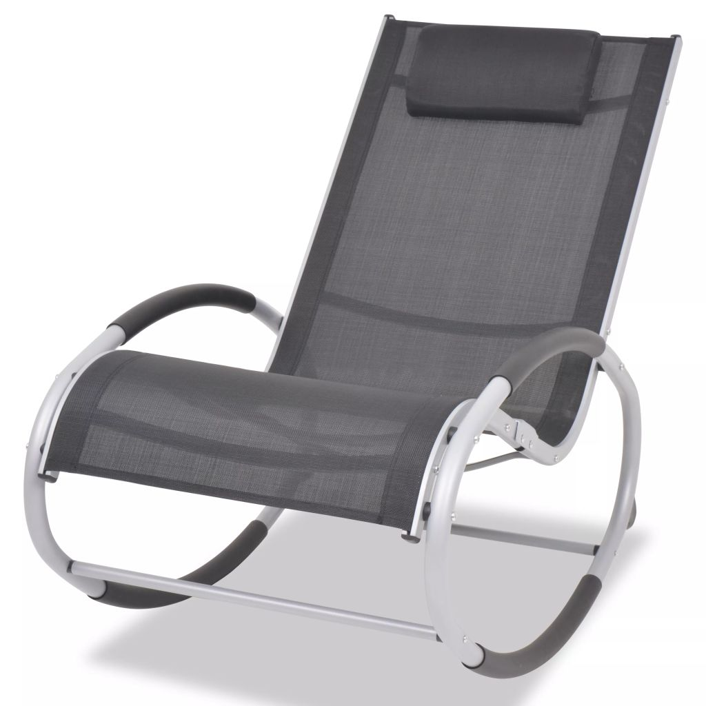 Outdoor Rocking Chair Aluminium and Textilene