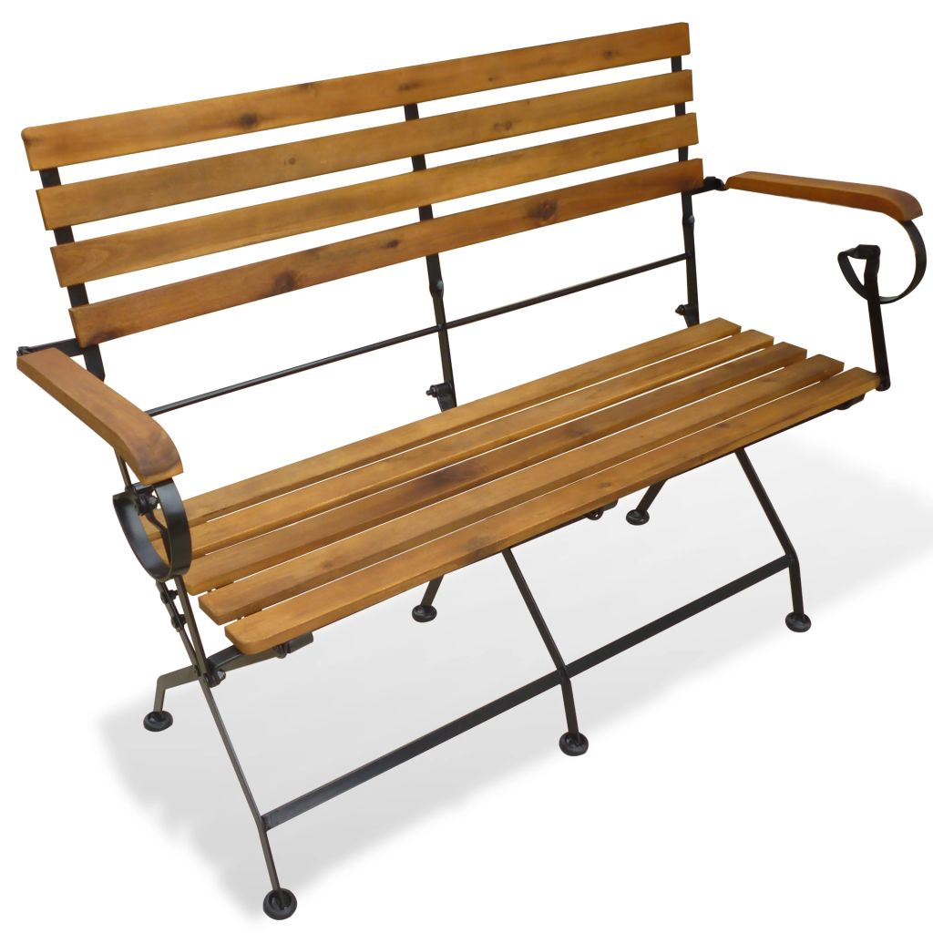 Folding Garden Bench 112 cm Solid Acacia Wood