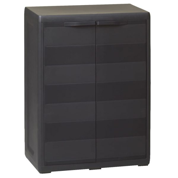 Garden Storage Cabinet with 1 Shelf Black 1
