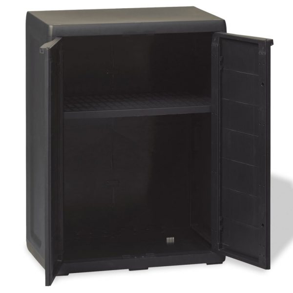 Garden Storage Cabinet with 1 Shelf Black 6