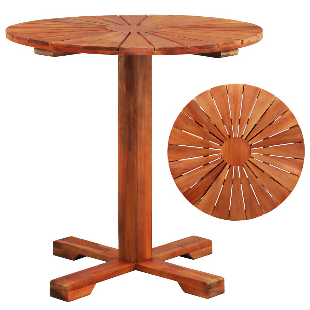 Bistro Table 70x70 cm Solid Acacia Wood