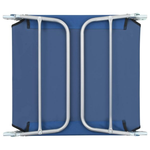 Folding Sun Loungers 2 pcs Steel and Fabric Blue 11