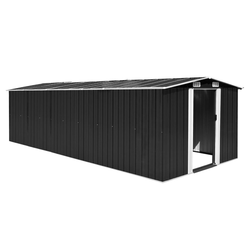 Garden Shed 257x597x178 cm Metal Anthracite