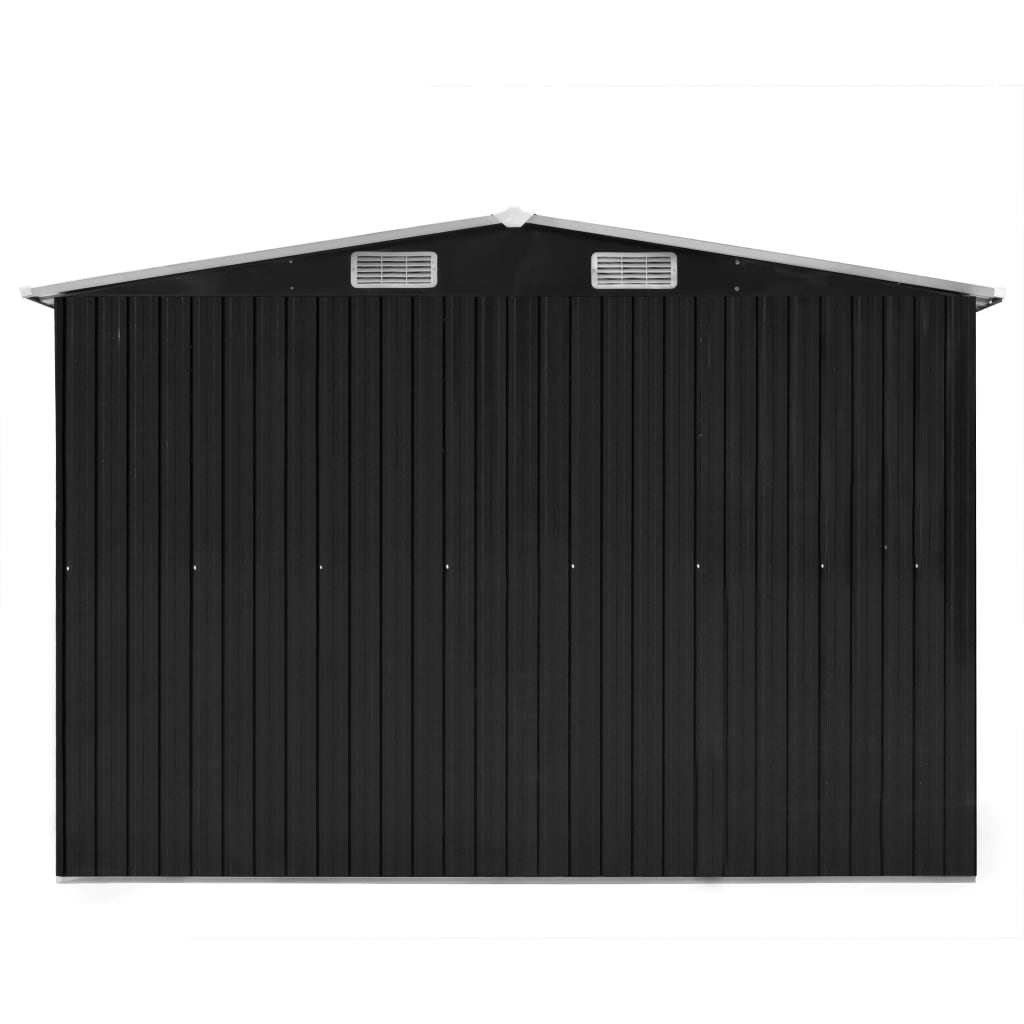 Garden Shed 257x597x178 cm Metal Anthracite 6