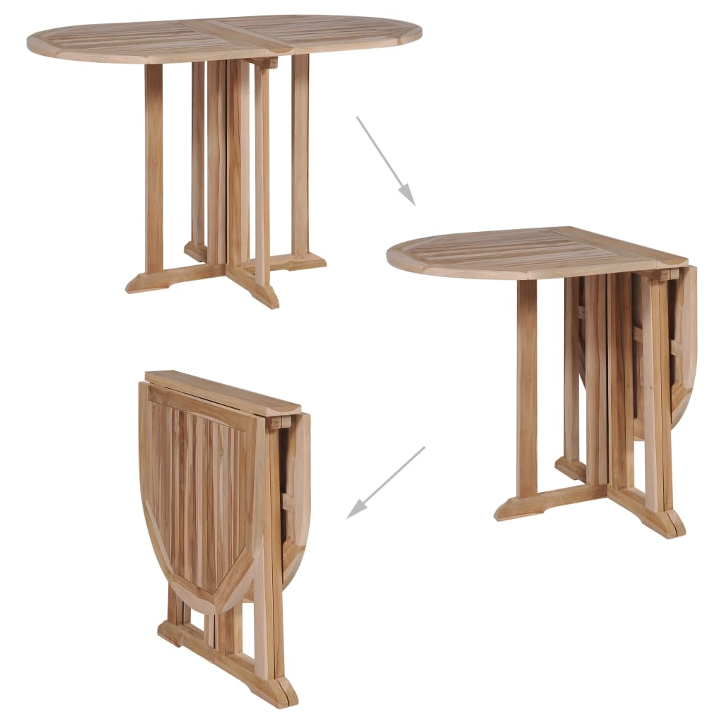 Folding Butterfly Garden Table 120x70x75 cm Solid Teak Wood 2