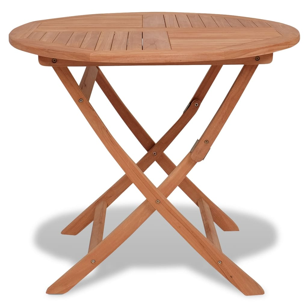Folding Garden Table 85x76 cm Solid Teak Wood
