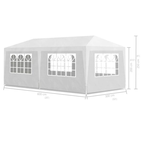 Party Tent 3×6 m White 6