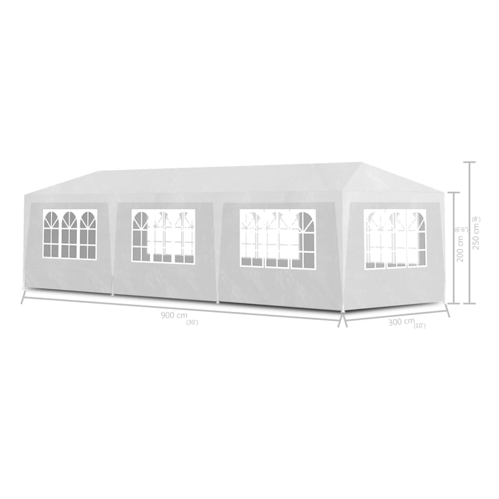 Party Tent 3×9 m White 6