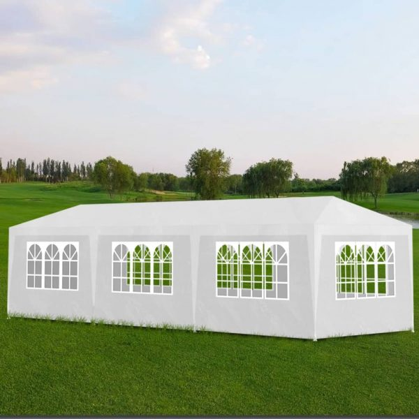 Party Tent 3×9 m White 1