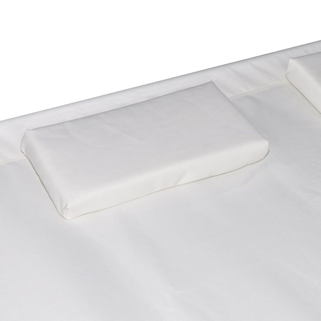 Outdoor Lounge Bed with Canopy & Pillows Cream White 4