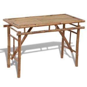 Folding Garden Table 120x50x77 cm Bamboo