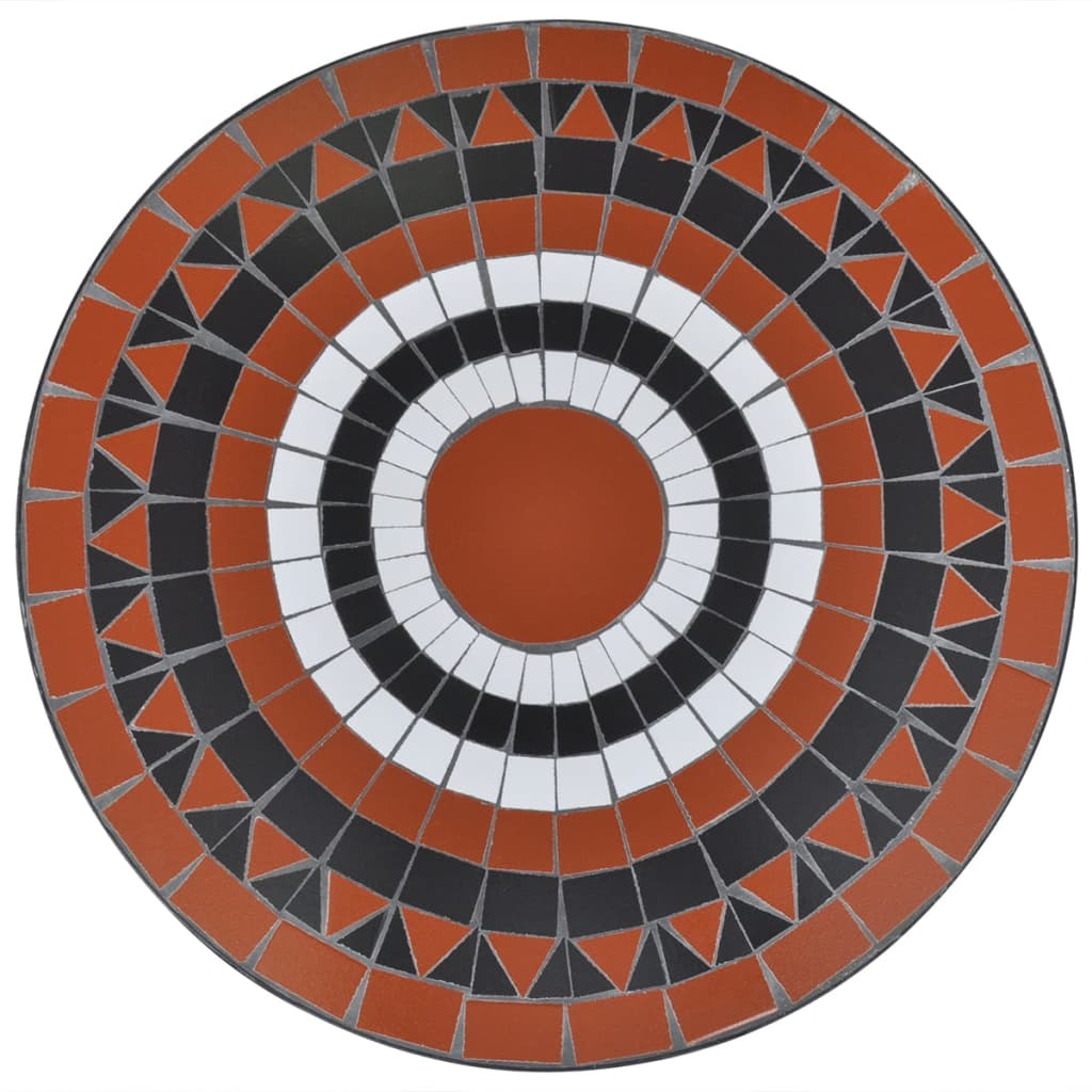 Bistro Table Terracotta and White 60 cm Mosaic 3