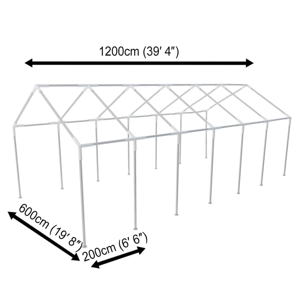 Steel Frame for 12 x 6 m Party Tent 2