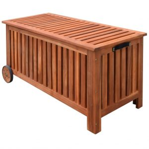 Garden Storage Box 118x52x58 cm Wood