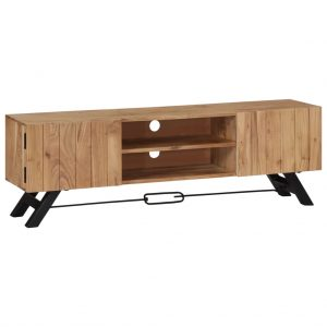 TV Cabinet 140x30x45 cm Solid Acacia Wood