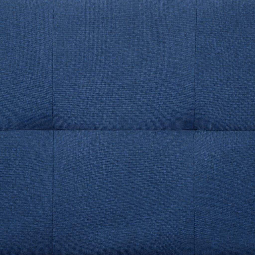 Sofa Bed with Two Pillows Blue Polyester 4