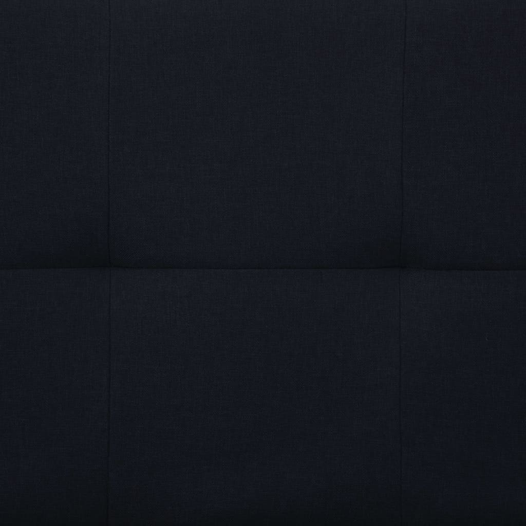 Sofa Bed with Two Pillows Black Polyester 4
