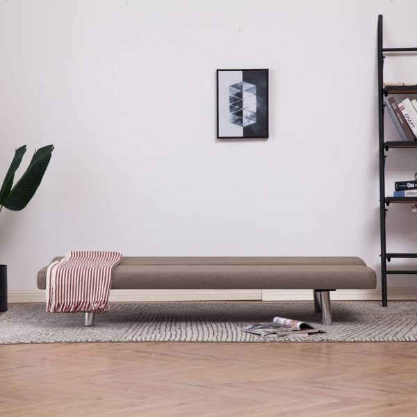 Sofa Bed Taupe Polyester 3