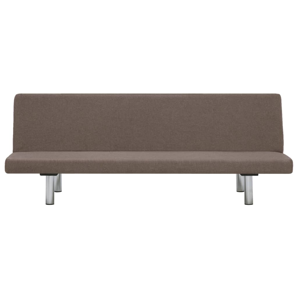 Sofa Bed Taupe Polyester 6