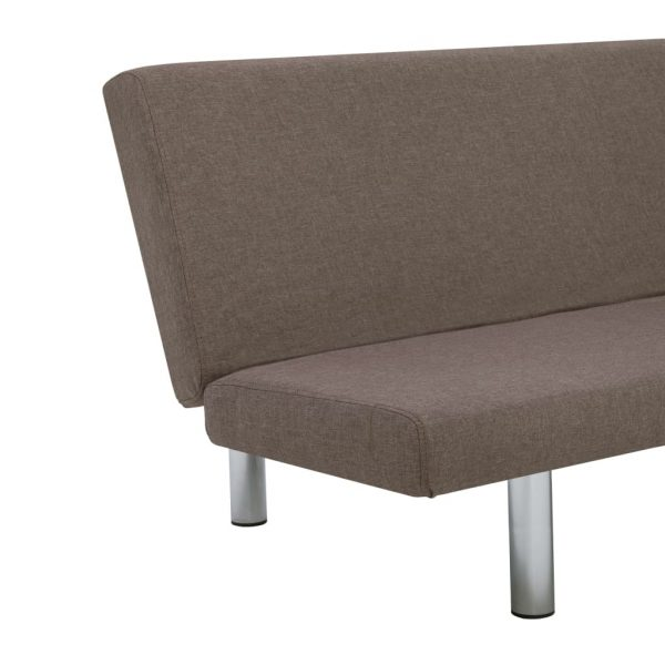 Sofa Bed Taupe Polyester 8
