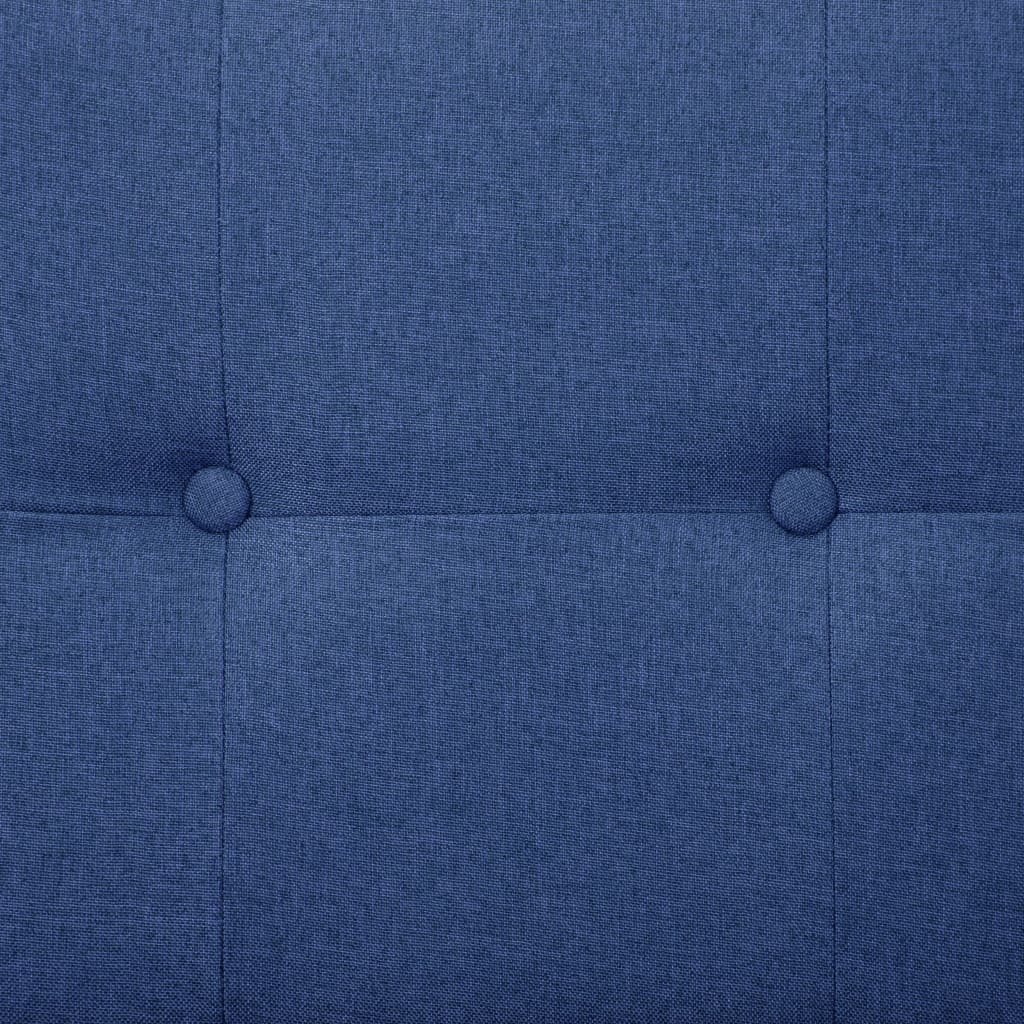Sofa Bed with Armrest Blue Polyester 4