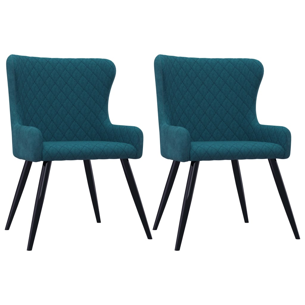 Dining Chairs 2 pcs Blue Velvet 1