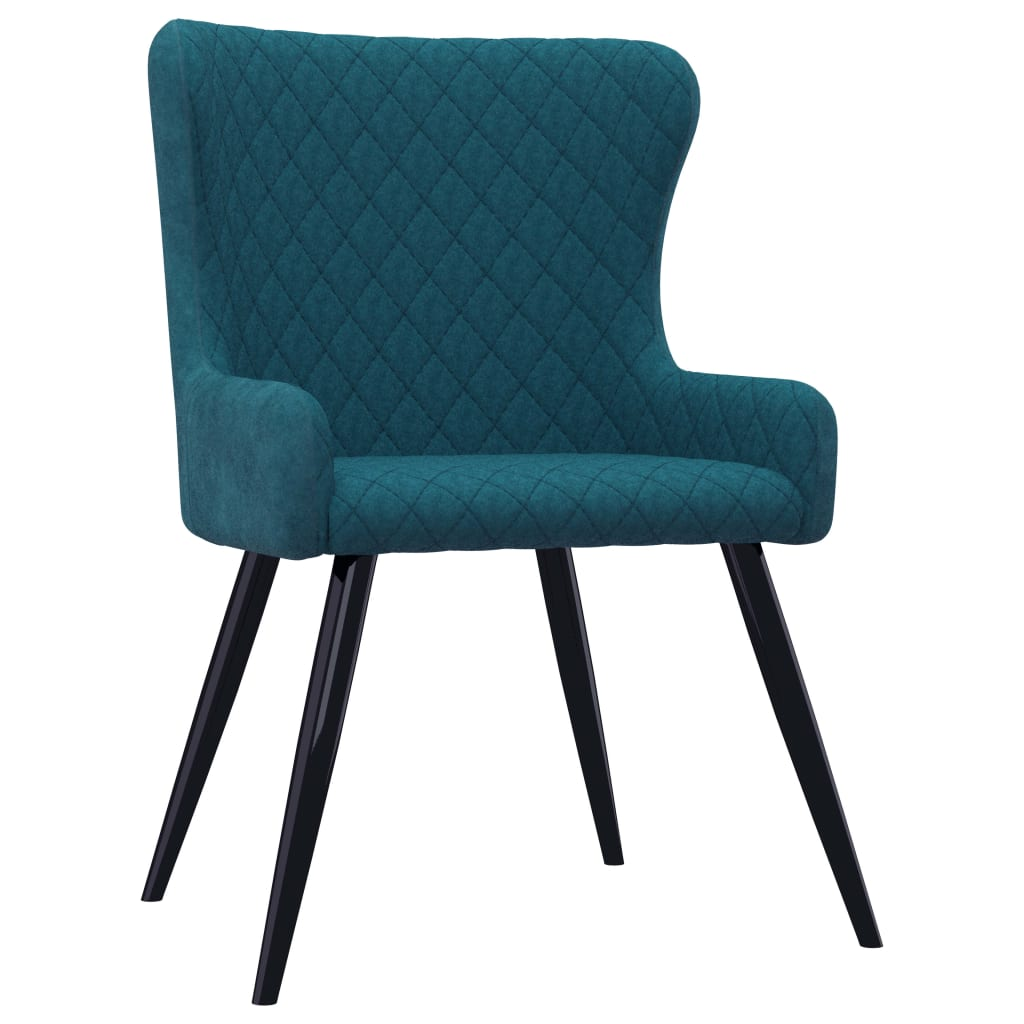 Dining Chairs 2 pcs Blue Velvet 2
