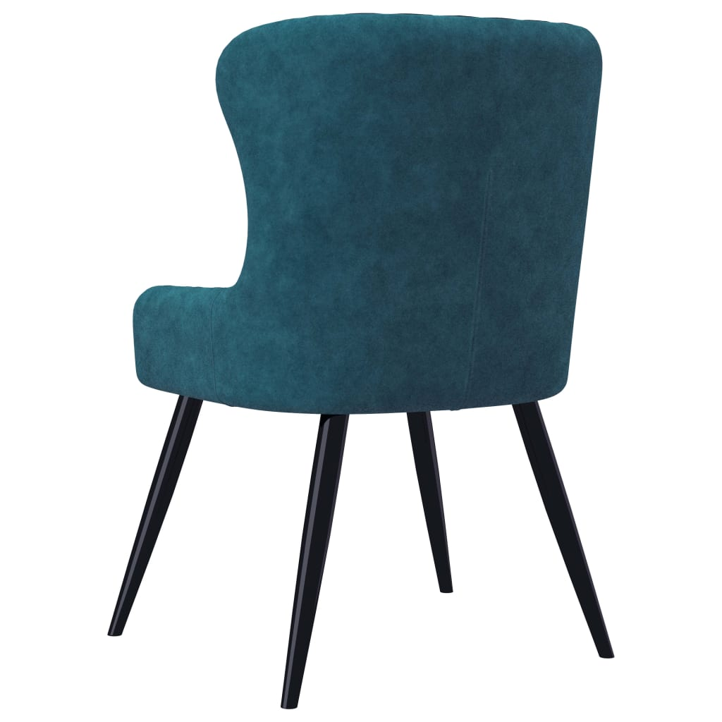 Dining Chairs 2 pcs Blue Velvet 5