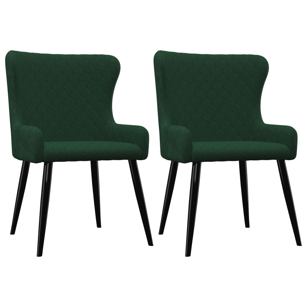 Dining Chairs 2 pcs Green Velvet