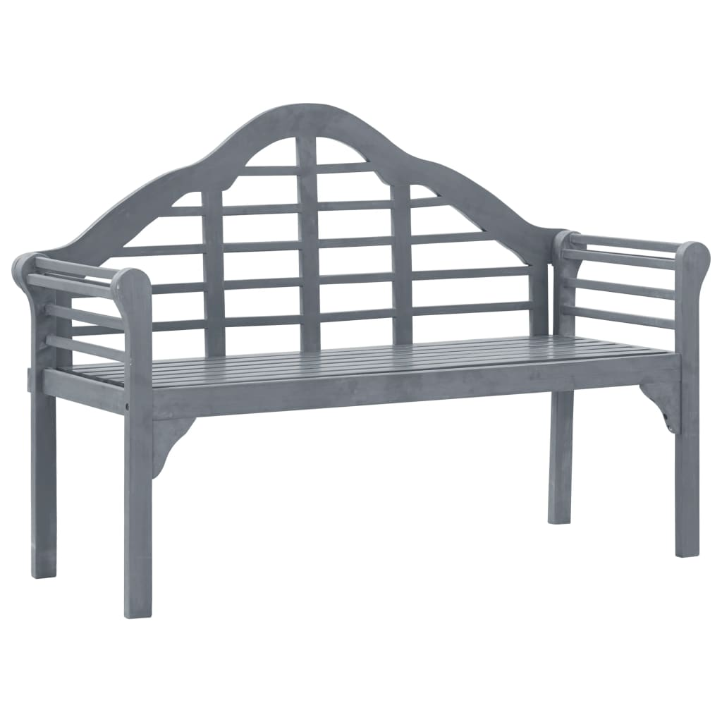 Garden Bench Grey Wash 135 cm Solid Acacia Wood