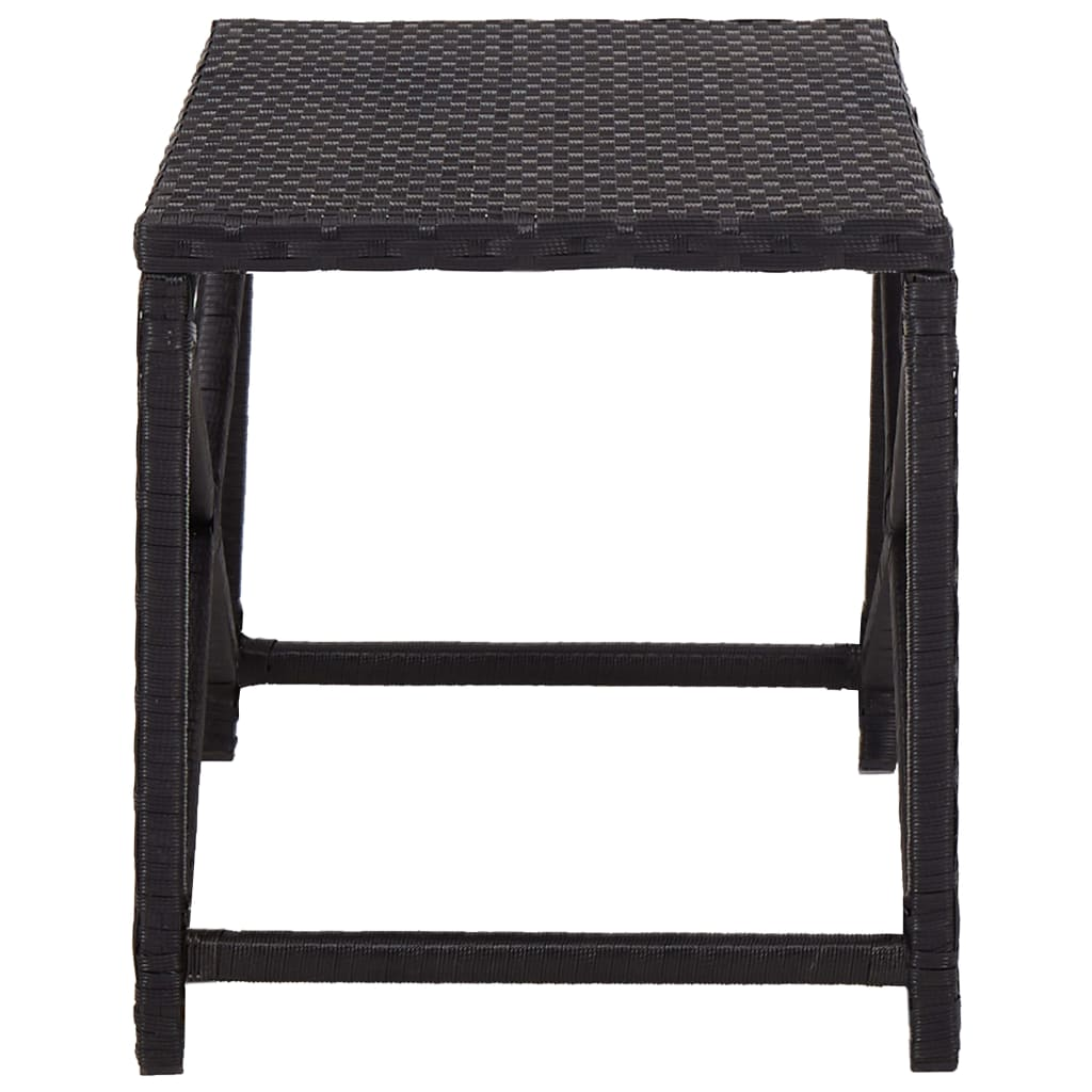 Garden Bench 80 cm Poly Rattan Black 3