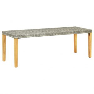 Garden Bench 80 cm Poly Rattan Grey