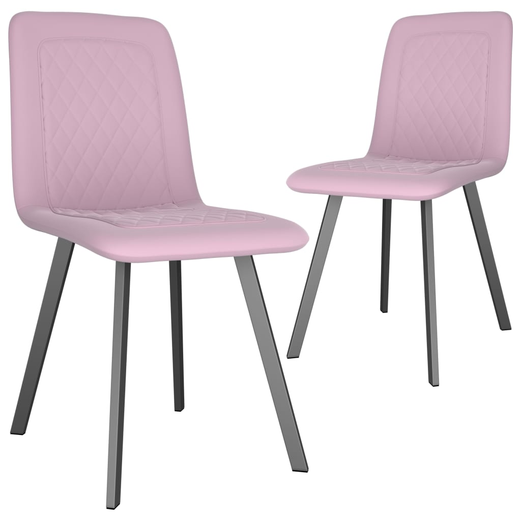 Dining Chairs 2 pcs Pink Velvet