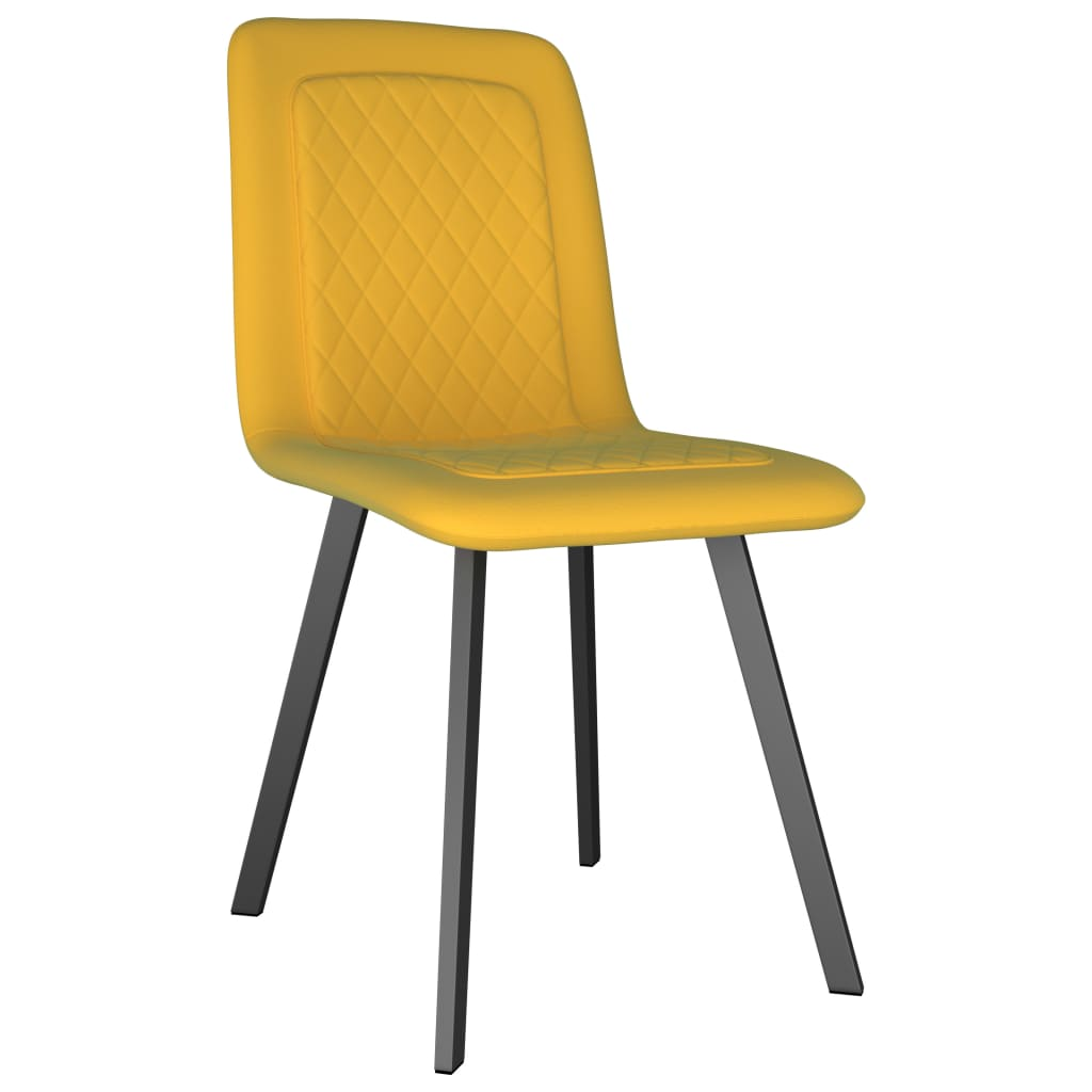 Dining Chairs 2 pcs Yellow Velvet 2