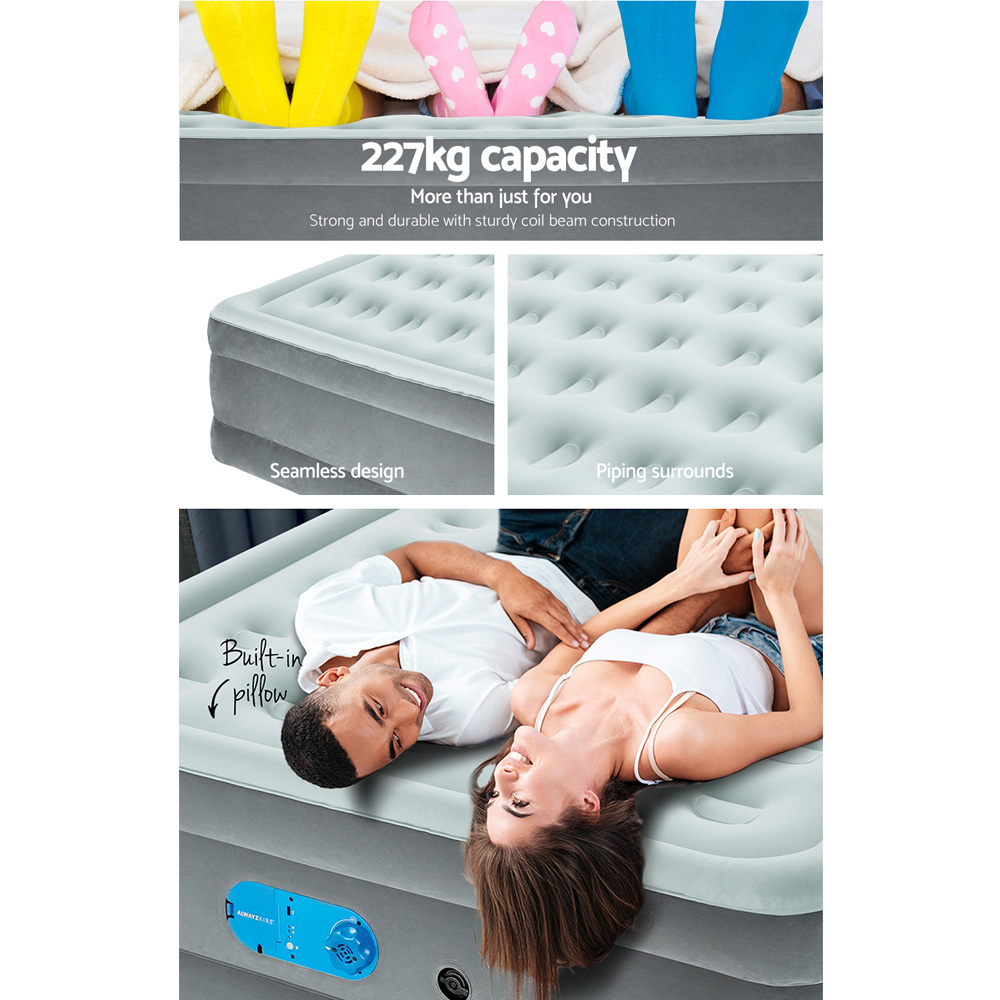 Bestway Single Air Bed Inflatable Mattress Sleeping Mat Battery Built-in Pump 6
