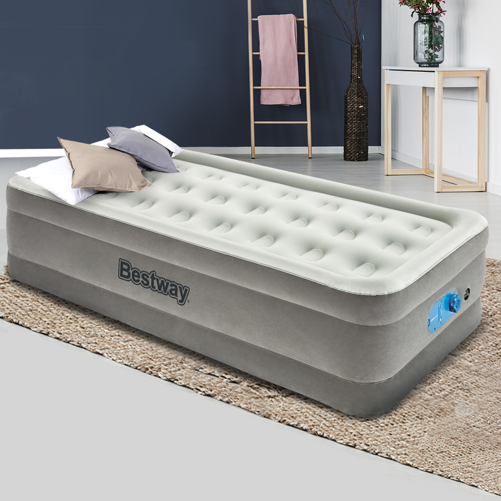 Bestway Single Air Bed Inflatable Mattress Sleeping Mat Battery Built-in Pump 7