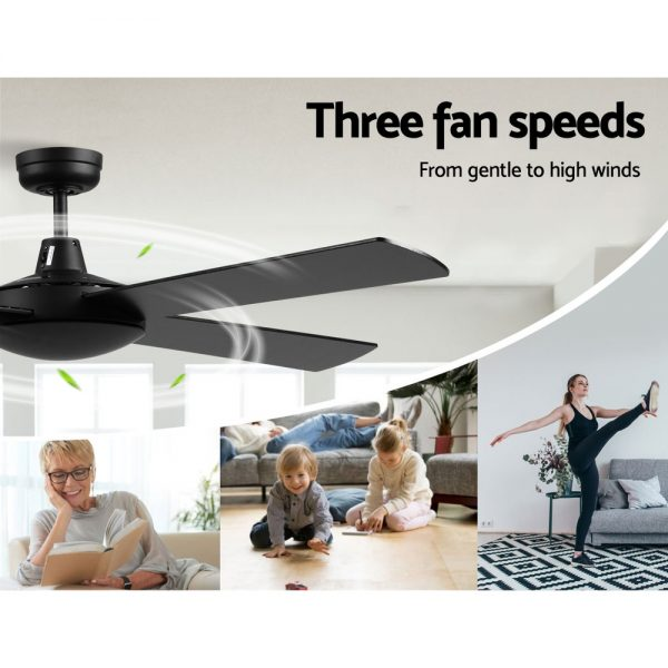 Devanti 52 inch 1300mm Ceiling Fan 4 Wooden Blades with Remote Control Reversible Fans 3