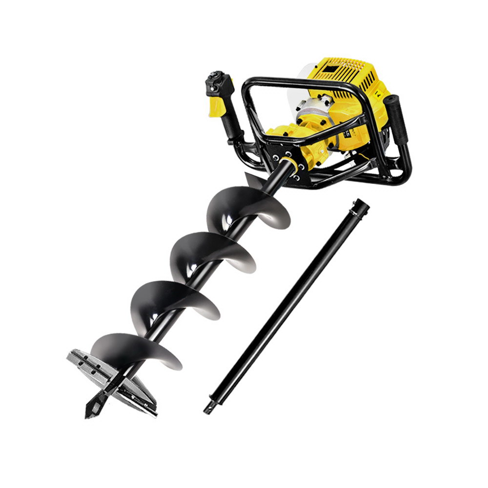Giantz 88CC Petrol Post Hole Digger Auger Drill Borer Fence Earth Power 200mm 1