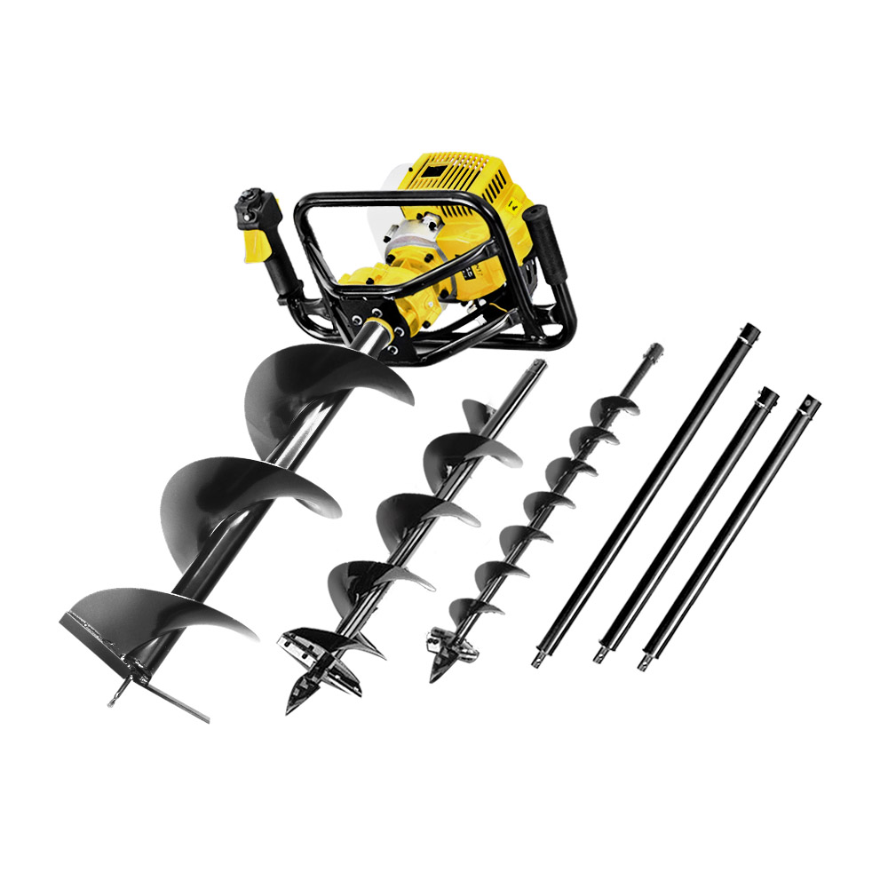 Giantz 88CC Post Hole Digger Auger Petrol Drill Borer Fence Earth Power 1