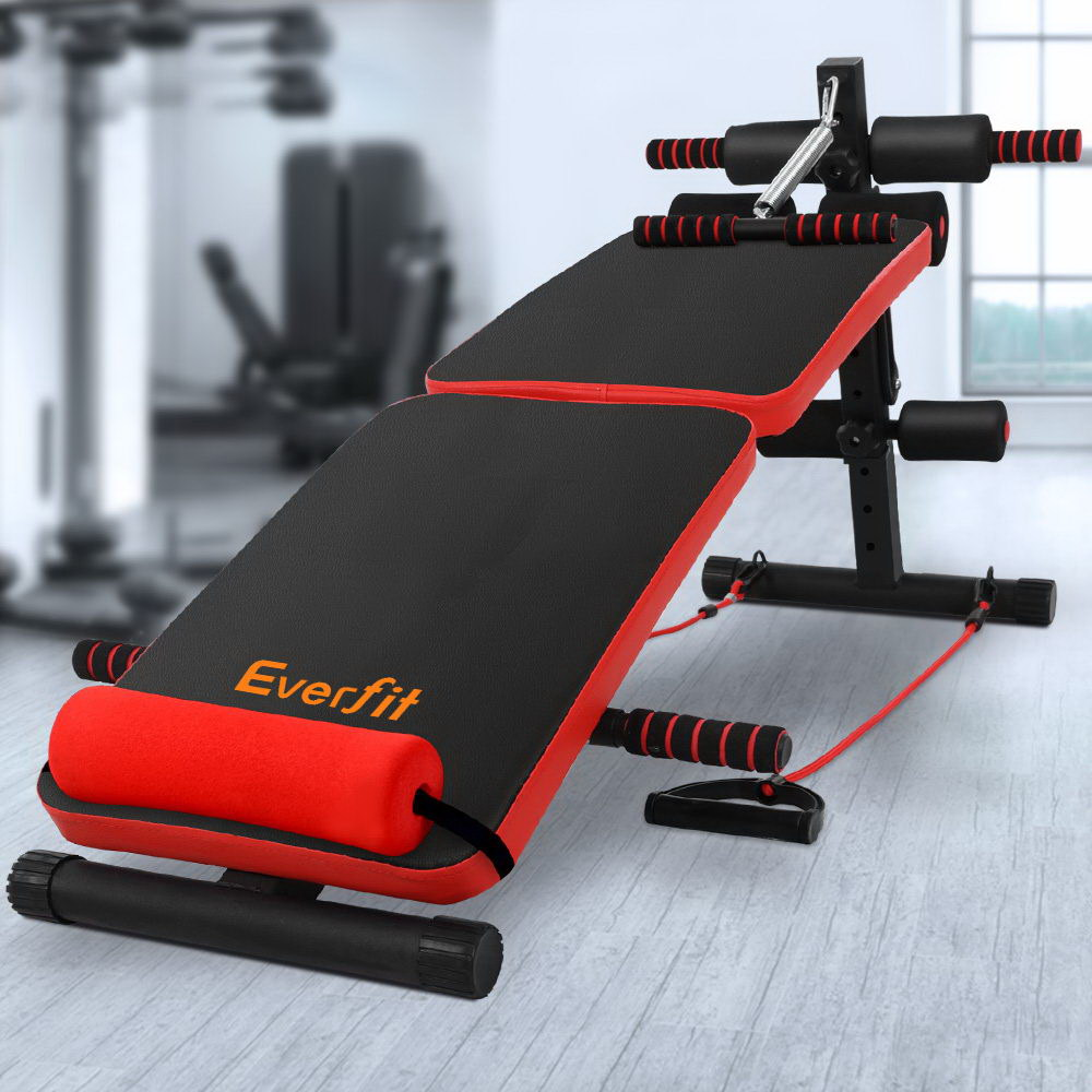 Everfit Adjustable Sit Up Bench Press Weight Gym Home Exercise Fitness Decline 7