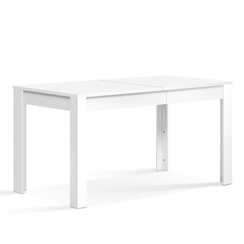 Artiss Dining Table 4 Seater Wooden Kitchen Tables White 120cm Cafe Restaurant 1