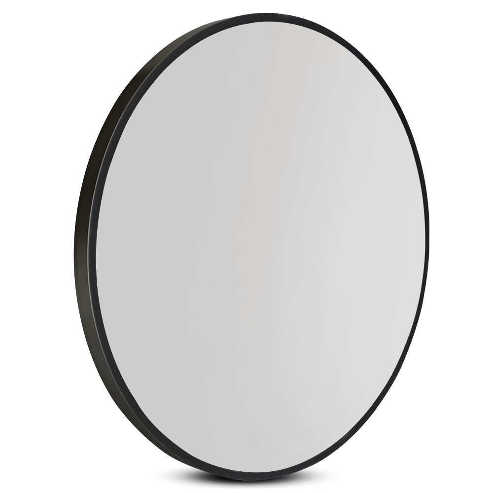 Embellir 90CM Wall Mirror Bathroom Makeup Mirror Round Frameless Polished 1