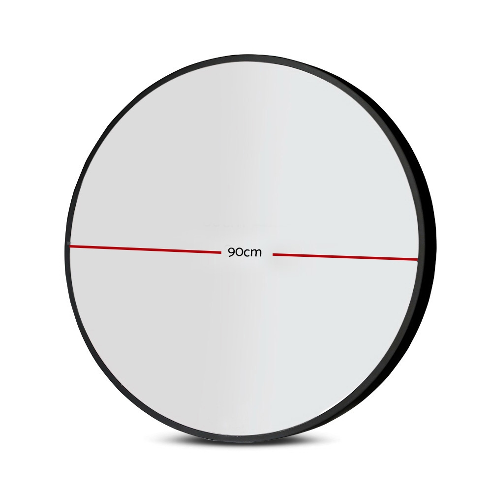 Embellir 90CM Wall Mirror Bathroom Makeup Mirror Round Frameless Polished 2