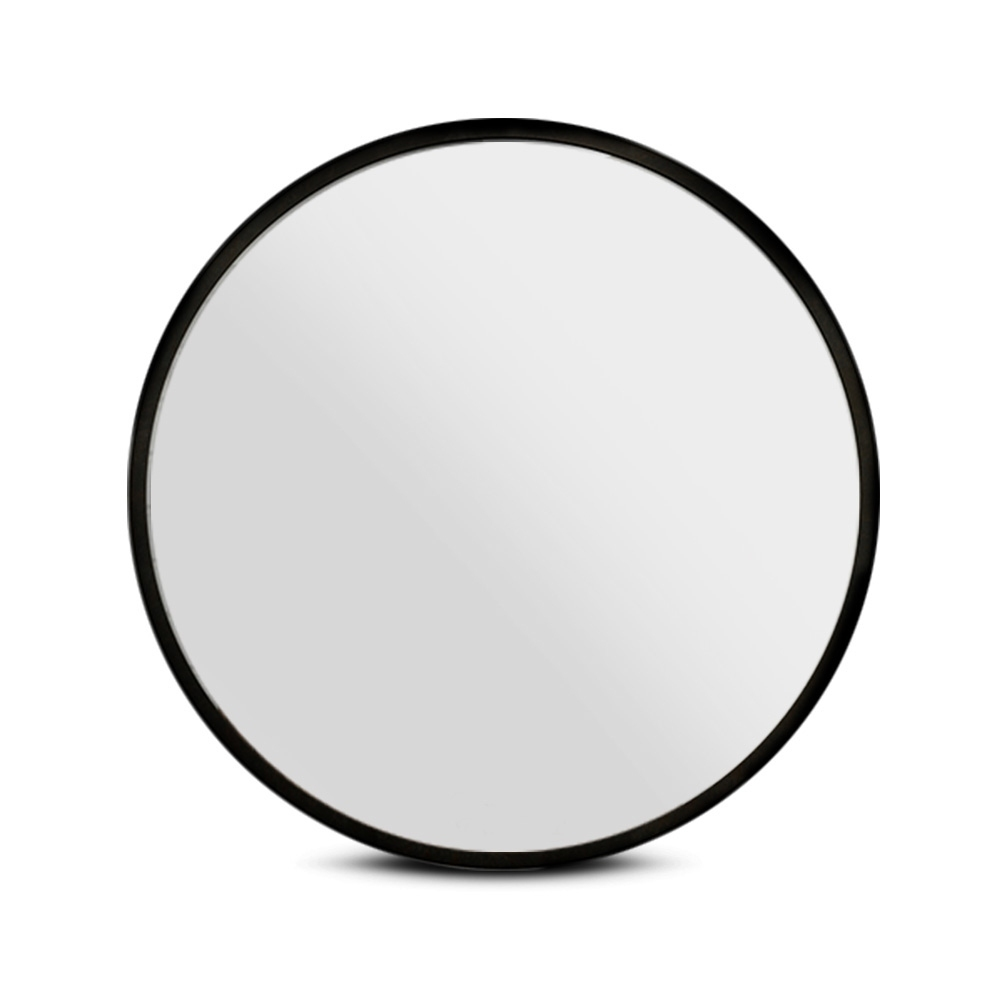 Embellir 90CM Wall Mirror Bathroom Makeup Mirror Round Frameless Polished 3