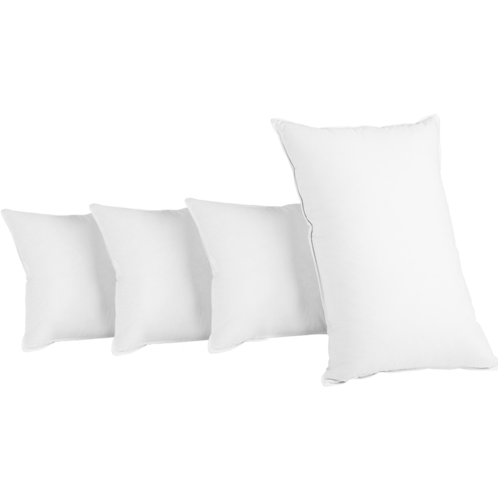 Giselle Bedding King Size 4 Pack Bed Pillow Medium*2 Firm*2 Microfibre Fiiling 1