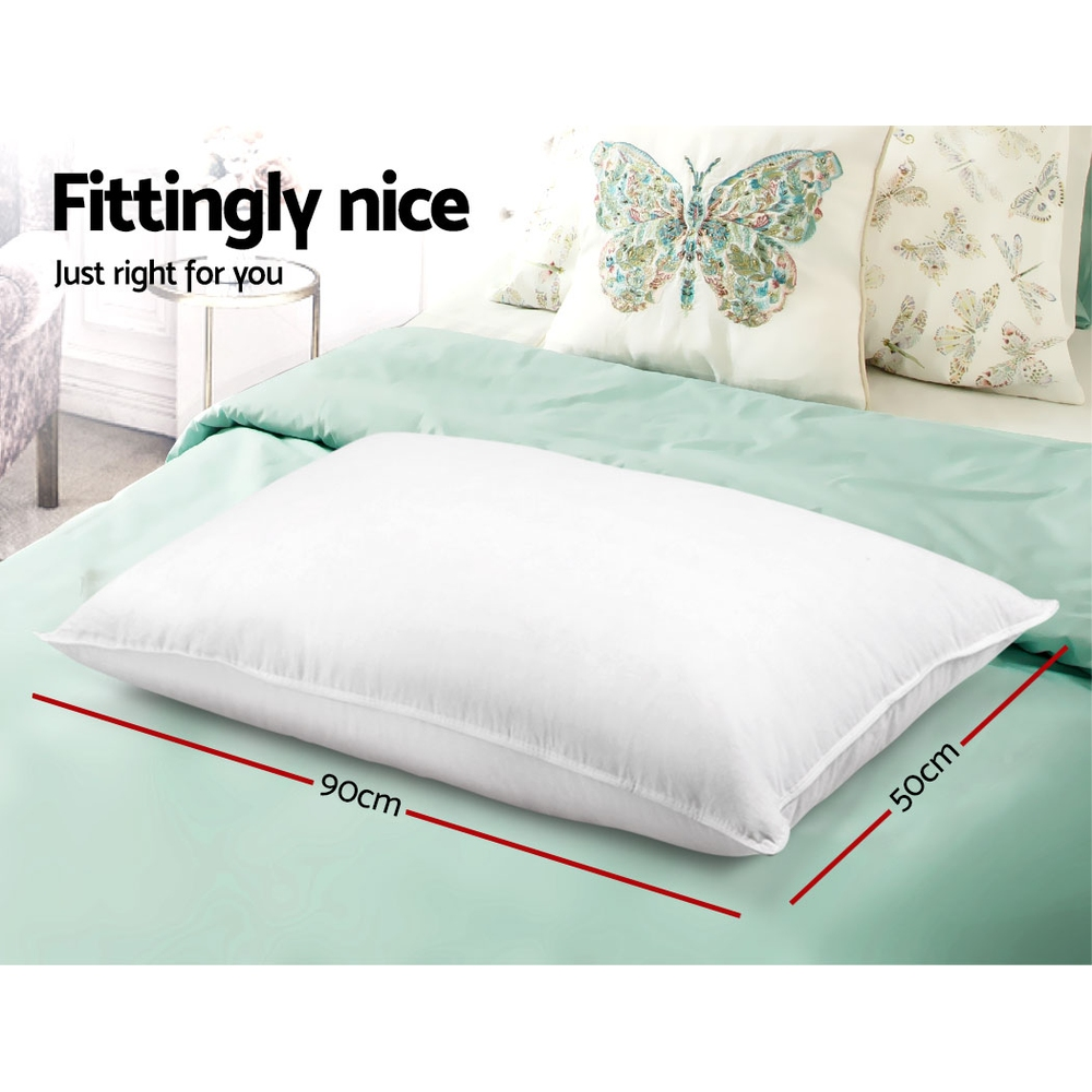 Giselle Bedding King Size 4 Pack Bed Pillow Medium*2 Firm*2 Microfibre Fiiling 2