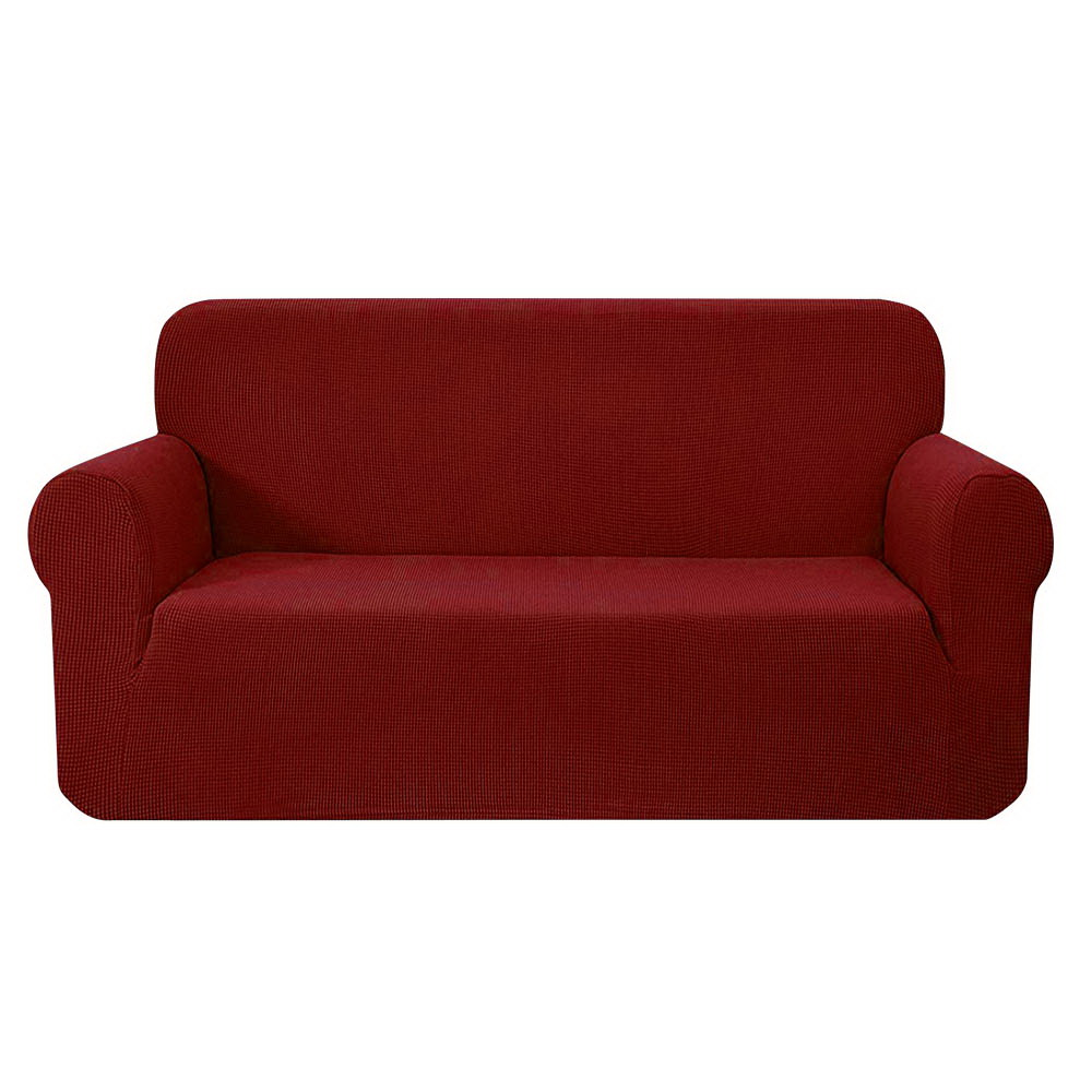 Artiss High Stretch Sofa Cover Couch Protector Slipcovers 3 Seater Burgundy 1